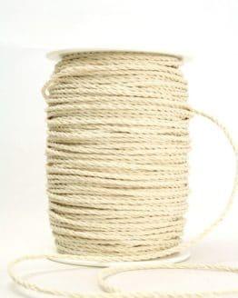 Bastkordel creme-weiß, 3 mm - zierkordeln