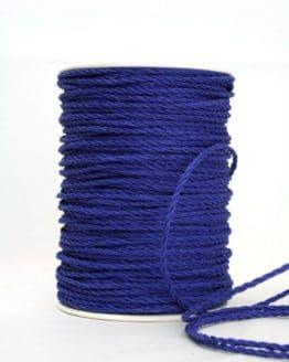 Bastkordel dunkelblau, 3 mm - zierkordeln