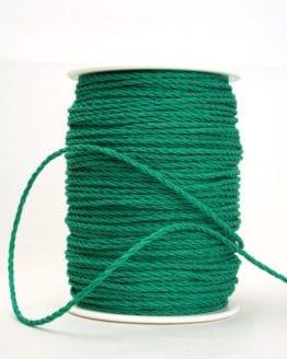 Bastkordel dunkelgrün, 3 mm - zierkordeln