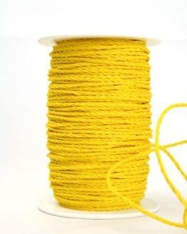 Bastkordel gelb, 3 mm - zierkordeln