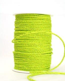 Bastkordel hellgrün, 3 mm - zierkordeln