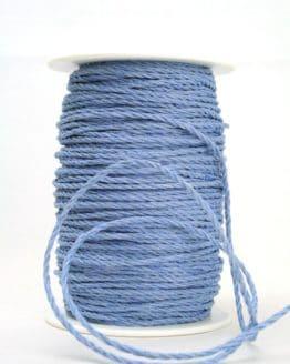 Bastkordel hellblau, 3 mm - zierkordeln
