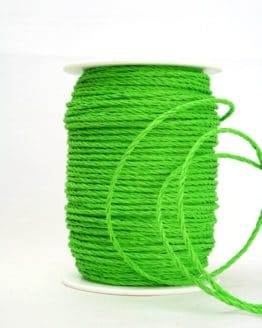 Bastkordel grün, 3 mm - zierkordeln