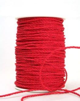 Bastkordel rot, 3 mm - zierkordeln