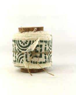Baumwollband Sonnenstern, 55 mm breit - geschenkband-gemustert, dekoband