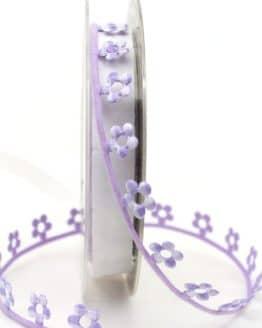 Blütengirlande flieder kariert - dekogirlande