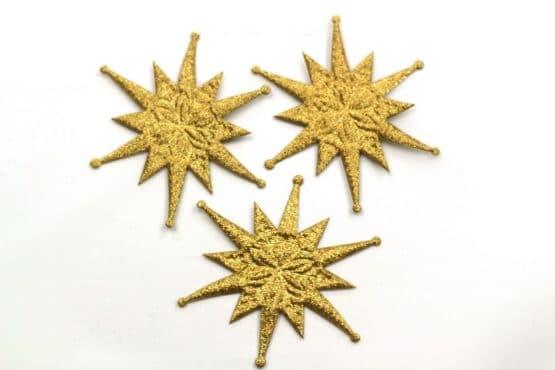 Deko-Stern, gold, 60 mm, 20 Stück - accessoires