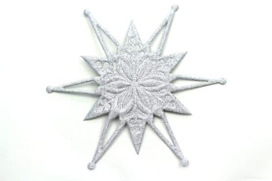 Deko-Stern, silber, 120 mm, 20 Stück - accessoires