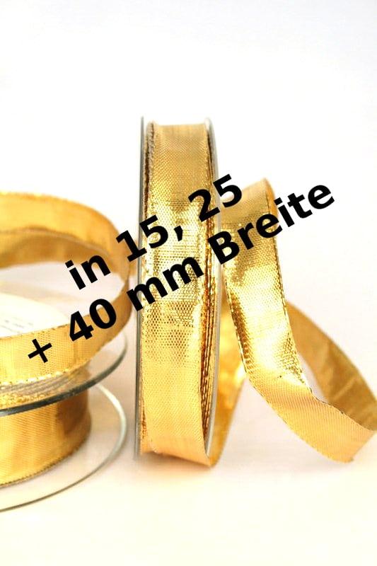 Lamé - Band gold, mit Drahtkante - weihnachtsband