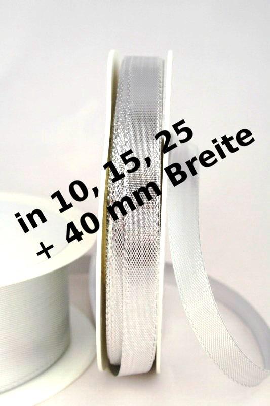 Lamé - Dekoband silber, ohne Drahtkante - weihnachtsband