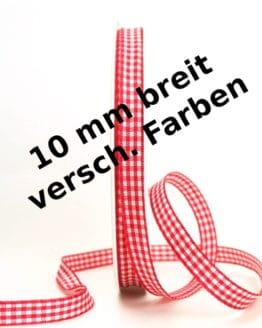 Vichy-Karo-Band, 10 mm breit - karoband
