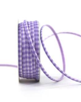 Dekoband kariert flieder/weiss, 5 mm breit - dekoband