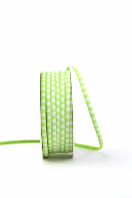 Dekoband kariert hellgrün/weiss, 5 mm breit - dekoband