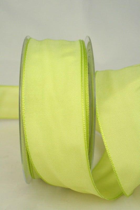 Dekoband hellgrün mit Drahtkante, 40 mm breit - dekoband-mit-drahtkante-dekoband