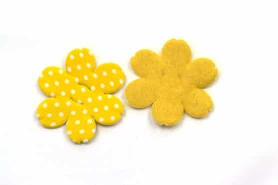 Dekoblüte zum Aufziehen, gelb, 52 mm, 20 Stück - accessoires
