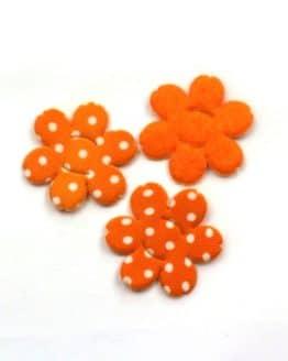 Dekoblüte zum Aufziehen, orange, 32 mm, 20 Stück - accessoires