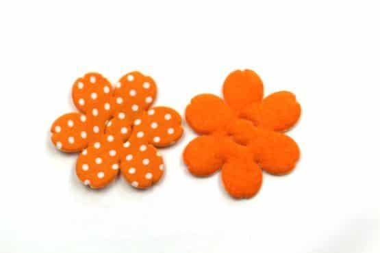 Dekoblüte zum Aufziehen, orange, 52 mm, 20 Stück - accessoires
