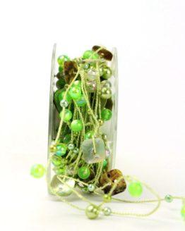 Perlengirlande grün perlmutt - dekoband
