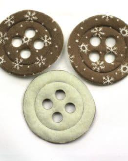 Dekoknöpfe Maxi, taupe, 52 mm, 20 Stück - geschenkanhaenger, accessoires