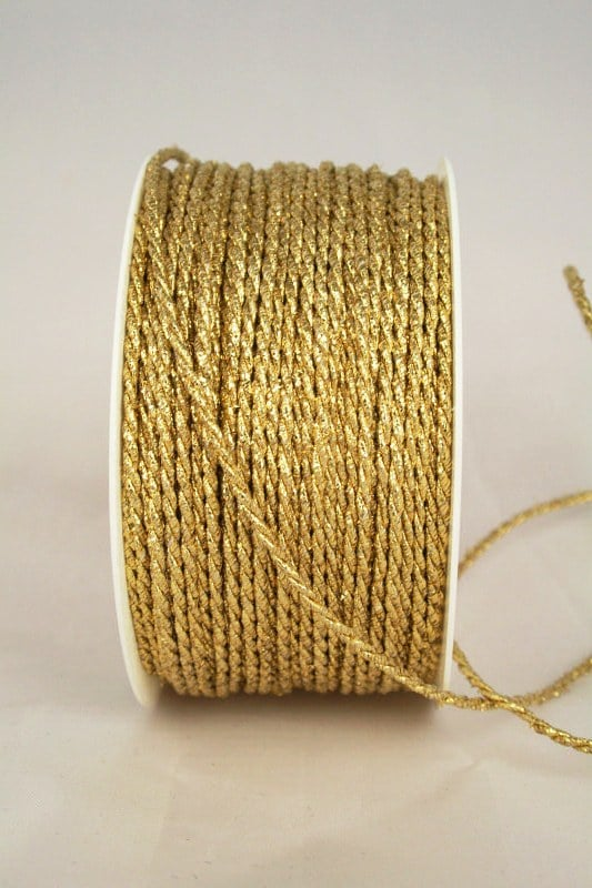 Dünne Zierkordel in Gold und Silber, 2 mm Stärke - kordeln