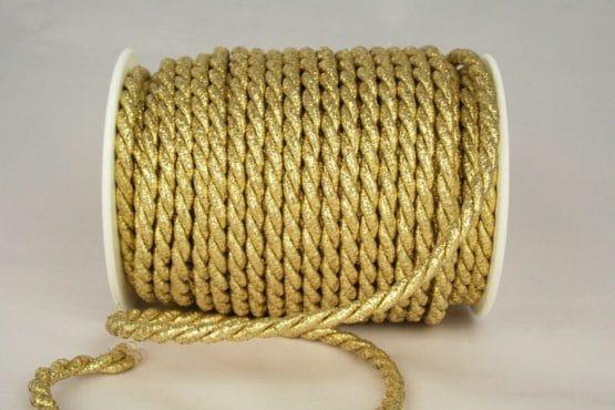 Zierkordel in Gold und Silber, 6 mm Stärke - kordeln