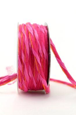 Dekokordel Papier-Filz pink 5mm (84787-5-241)