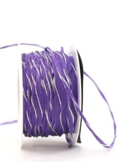 Dekokordel lila-silber, 3 mm - kordeln