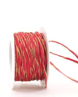 Dekokordel rot-gold, 3 mm - kordeln