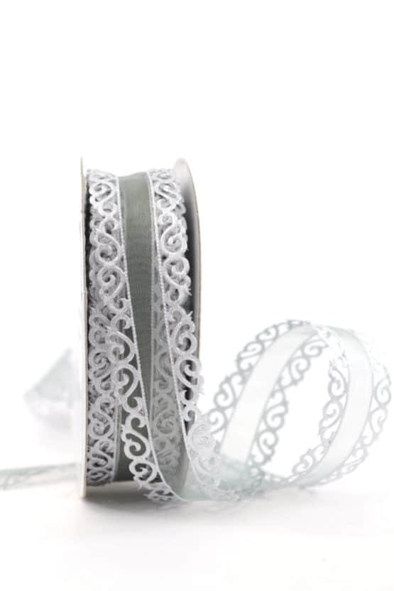 Dekolitze silber, 25 mm - weihnachtsband