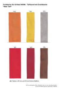 Farben 94099 Taftband mit Drahtkante New Taft_1 -