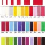 Farbmusterkarte Satinband