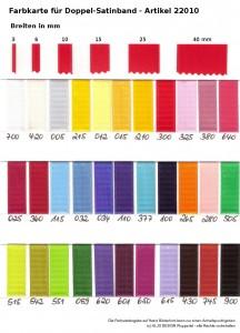 Farben bei Satinband -