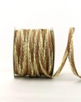 Flechtband creme-braun, 10 mm - 40 mm - dekoband