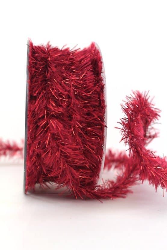 Fransenkordel rot, 20 mm - weihnachtsband, dekogirlande