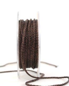 Geflochtene Dekokordel braun, 3 mm - kordeln