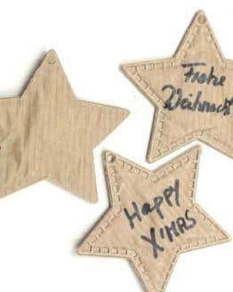 Geschenkanhänger Stern, aus Papier, 20 Stück Beutel - geschenkanhaenger, accessoires