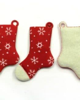Geschenkanhänger Stiefel, rot, 70 mm, 20 Stück - geschenkanhaenger, accessoires