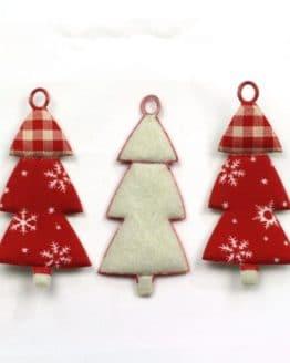Geschenkanhänger Tannenbaum, rot, 60 mm, 20 Stück - geschenkanhaenger, accessoires