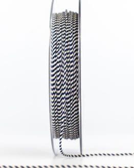 Dünne Kordel, blau/weiß, 1 mm stark - kordeln
