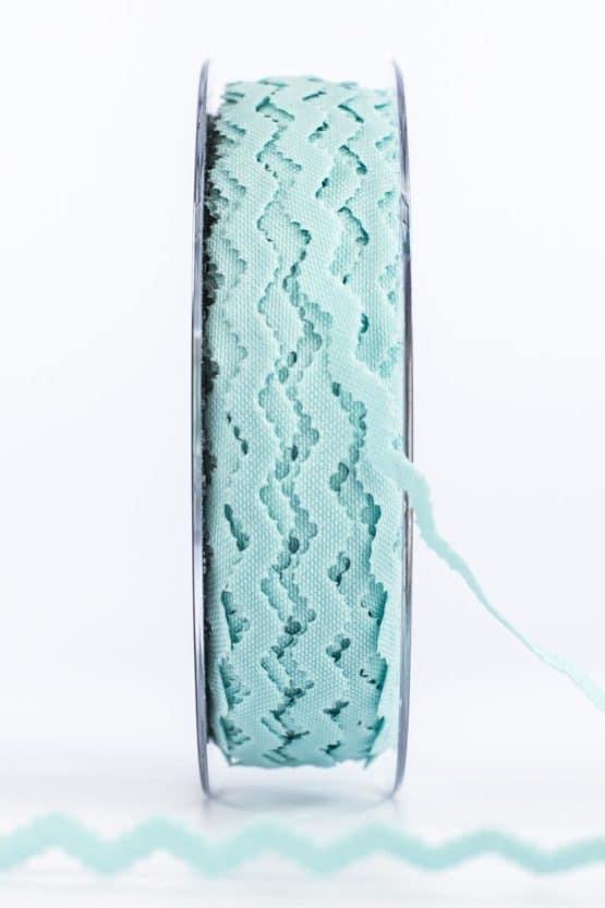 """Zackenlitze """"Extra"""", hellblau, 10 mm breit - geschenkband-einfarbig, dekoband"""