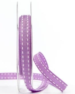 Stichband, flieder, 10 mm breit - geschenkband-gemustert, dekoband