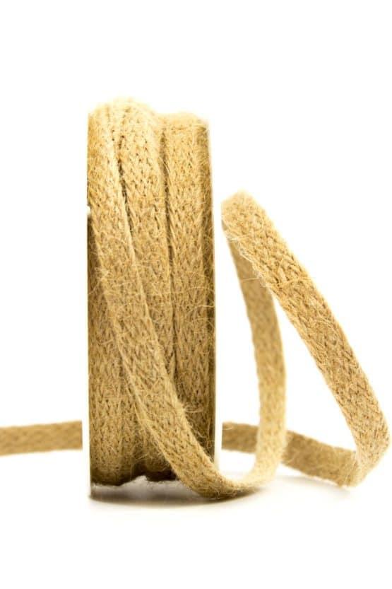 Juteflechtband natur, 10 mm breit - juteband, geschenkband-einfarbig, geschenkband, dekoband, andere-baender