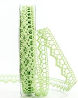 Dekolitze, mintgrün, 15 mm breit - vintage-baender, spitzenbaender, hochzeit