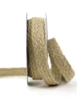 Schmales Jute-Flechtband, natur, 25 mm breit - vintage-baender