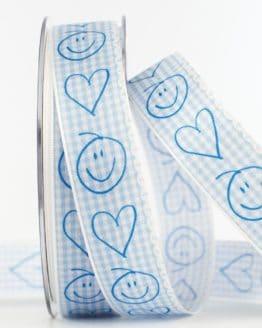 Geschenkband Baby, hellblau, 25 mm breit - baby