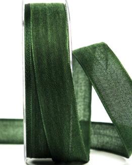 Geschenkband Leinen, tannengrün, 25 mm breit - geschenkband-einfarbig, dekoband