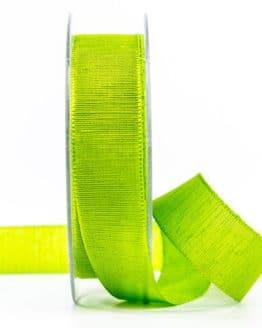 Geschenkband m. schöner Webstruktur, hellgrün, 25 mm breit - geschenkband-einfarbig, dekoband