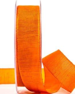 Geschenkband m. schöner Webstruktur, orange, 25 mm breit - geschenkband-einfarbig, dekoband