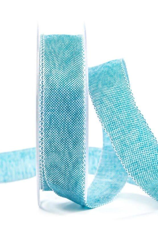 Hochwertiges einfarbiges Geschenkband, türkis, 25 mm breit - geschenkband-einfarbig, dekoband