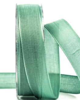 Geschenkband Leinen, mintgrün, 25 mm breit - geschenkband-einfarbig, dekoband